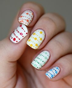 Polka dot dot nails