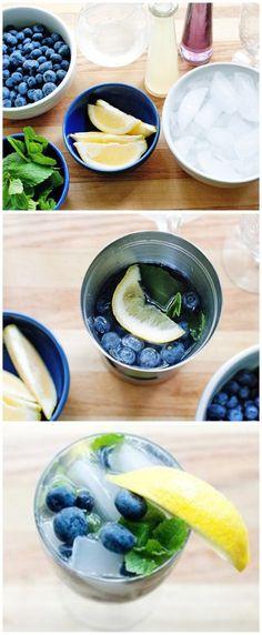 HOW TO: Make Blueberry Lemon Lavendar Mojitos #HowTo