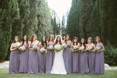 Shades of bridesmaids dresses today on @Christina by This  Love these combinations!