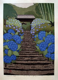 Kazuyuki Ohtsu woodblock print