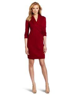 Evan Picone Women's Long Sleeve Faux Wrap Dress « Dress Adds Everyday