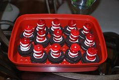 Dr. Seuss hat treats and other ideas for Read Across America Day - March 2