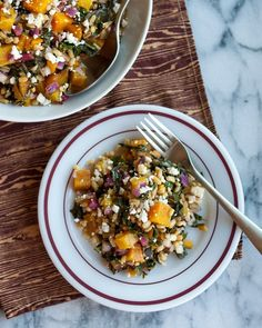 Golden Beet and Barley Salad with Rainbow Chard from The Kitchn