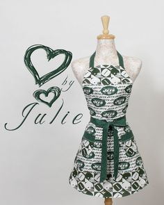 Jets NFL football Apron  New York Jets by apronqueen on Etsy, $26.95