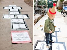 """Awesome Toddler Birthday Party idea  =  Bubble Wrap Hopscotch """"Make It Go Pop!"""" I LOVE IT!"""
