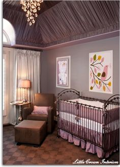 modern girls baby nursery