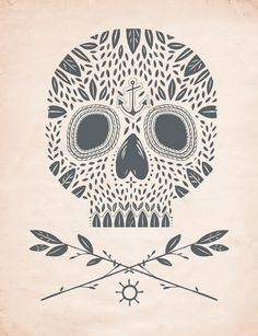 kelli murray leaf skull print