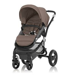 Affinity Stroller by Britax - Black base frame with Fossil Brown color pack - Britax USA