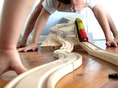 My kids have one of these. This is such a great complement to their train set! Handmade by ParisBourke