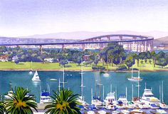 Coronado Bay Bridge  From an original painting by by maryhelmreich