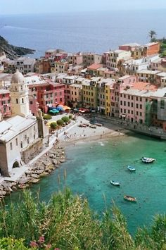 Cinque Terre, Italy.  One of the most beautiful places on earth!  If you haven't been, make sure it's on your bucket list!