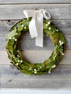 Simple Leaf and Berry Wreath