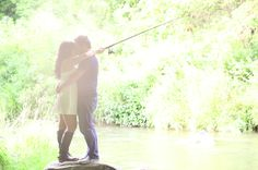 What a Catch! Engagement photo ideas - incorporating a fun hobby #fishing