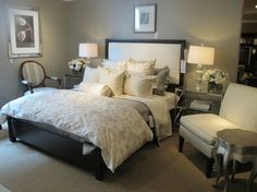 gray and cream bedroom - LOVE#Repin By:Pinterest++ for iPad#