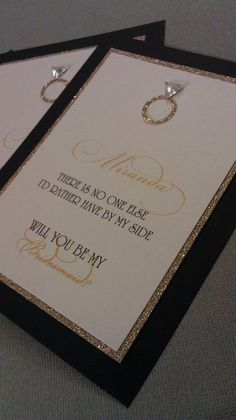 Will You Be My Bridesmaid... Cards (Set of 8). $26.00, via Etsy.---could totally DIY this