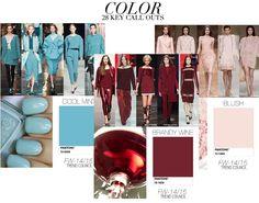 #cores inverno 2014 : azull bebe, vinho e rosa blush