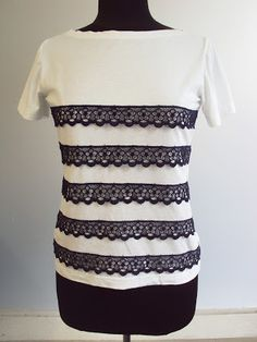 Add stripes of lace to T?