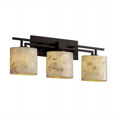 •The Alabaster Rocks Aero Collection - In this innovative collection pieces of real alabaster are hand-selected and suspended in resin offering a truly original mosaic look. When illuminated, each fixture displays its unique and varied colors, even more dramatically than solid alabaster.