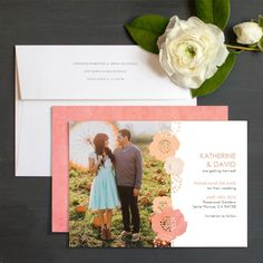Blooming Flowers Save The Date Cards By Jennie Hake | Elli
