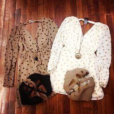 Cute Polka Dot Dresses and Wedges