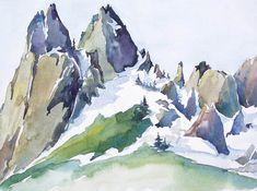 Kim Solga - Paintings Rock Climbing Cosmic Wall Castle Crags Wilderness California watercolor