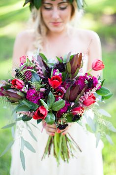 #Bouquet - bohemian inspiration