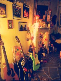 ...home is where the guitars are...
