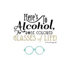 Bar quote Art Print by F. Scott Fitzgerald