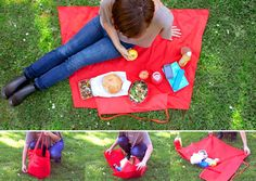Yield Picnic Bag by yield-design-co: Unfolds from bag to blanket in one zip for the more spontaneous picnic.  #Picnic_Bag