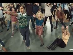 The Big Bang Theory Flash Mob - FULL - Ft. Cast and Crew   You haven't lived until you see Amy Farrah Fowler shuffling.