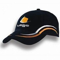 Baseball Cap, Made of 100% Cotton, Customized Logo Printings are Accepted