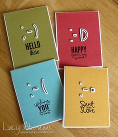 Smiley Card Set by Lucy Abrams