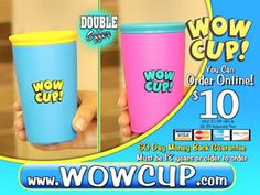 Wow Cup. Automatically Seals For No Spills! $10 for 2.  One of the coolest, must have products I have ever seen! I don't know about you, but a stressful event for me, is having a sippy cup that don't spill!