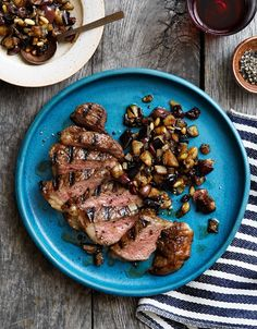 Dave Pasternack's Recipe for Grilled Steak with Eggplant Caponata
