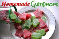 Homemade Gumdrops | MomOnTimeout.com #recipes #Christmas