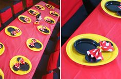 Minnie Mouse style place settings