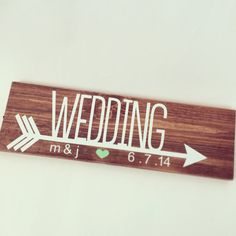 Wedding Directional Sign on Etsy, $27.99