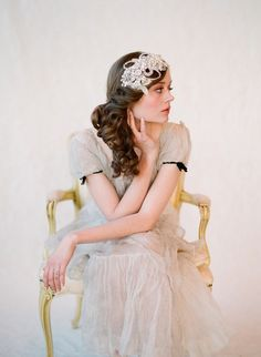 Bridal headband by Twigs & Honey