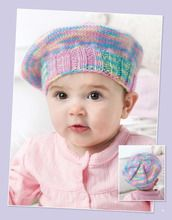 Rainbow baby hat from Projects for Baby Made with the Knook eBook #baby #gift #knit #crochet