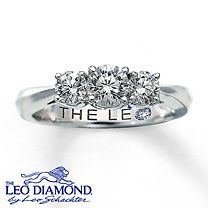 dream ring, diamond rings, 14k white, diamonds, diamond enhanc, white gold, engag ring, engagement rings, leo diamond