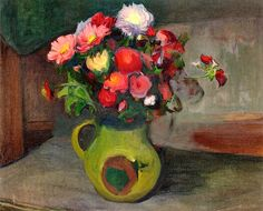 Asters in a Pitcher / Wladyslaw Slewinski - 1897