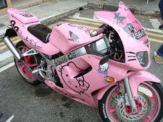 hello kitty motorcycle!