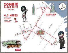 Zombie walking route map - San Francisco #zombieblooddrive