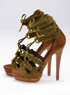 Strappy Lace-up Sandal