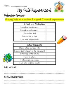 Self/student report cards