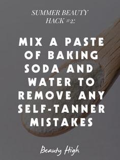 Remove #selftanner. #beautyhacks