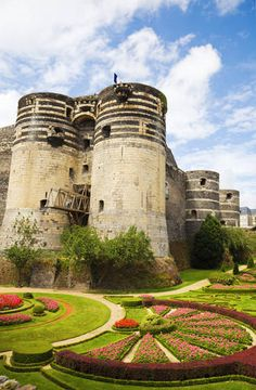 Château d'Angers in Angers, France is home to the world's largest known medieval tapestry: the Tapestry of Bayeux
