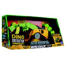 There's no project too tough for the Dino Construction Company! Perfect for play on carpet, dirt or sand, these mega-morphs can build and bash anything, anywhere! The T-Rex Skid Loader features an action neck, smashing tail, dino track treads and movable jaws.