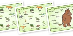 Twinkl Resources >> The Gruffalo Mat (Images)  >> Thousands of printable primary teaching resources for EYFS, KS1, KS2 and beyond! The Gruffalo, resources, mouse, fox, owl, snake, Gruffalo, fantasy, rhyme, story, story book, story book resources, story sequencing, story resources, word mat, writing aid,