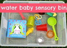 Water Baby Sensory Bin {via The Iowa Farmer's Wife}